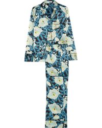 Equipment Avery Printed Washedsilk Pajama Set - Lyst