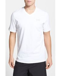Under Armour Moisture Wicking Charged Cotton Loose Fit V-Neck T-Shirt - Lyst