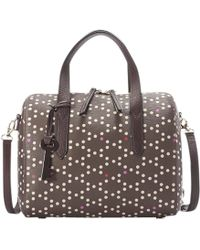 Fossil - Sydney Printed Leather Satchel - Lyst