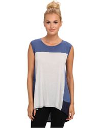 BCBGMAXAZRIA Allison Sleeveless Color Block Top - Lyst