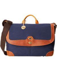 Will Leather Goods Blue Dennis Messenger - Lyst