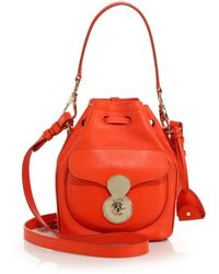 Ralph Lauren Collection Small Drawstring Shoulder Bag red - Lyst