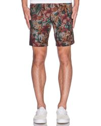 Naked & Famous Slim Short Big Tropical - Lyst