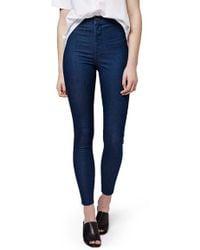 Topshop | 'joni' Crop Super Skinny Jeans | Lyst