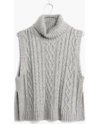 Madewell Turtleneck Sweater-vest - Lyst