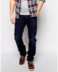 Diesel Jeans Made In Italy Safado Straight Fit 837G Dark Scrape Wash - Lyst