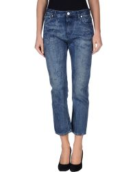 Acne Studios Denim Trousers blue - Lyst
