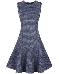 Michael Kors Drop Waist Tweed Dress - Lyst