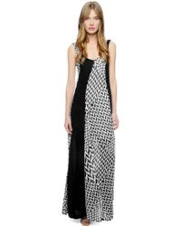 Ella Moss Raffia Print Long Dress - Lyst