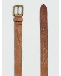 Topman Tan Vintage Belt - Lyst