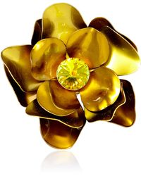 Carole Tanenbaum - Vintage Metal Flower Pin - Lyst