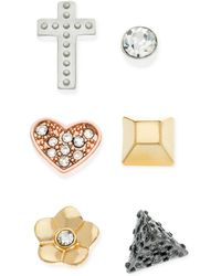 Guess Multitone Mix and Match Stud Earring Set - Lyst