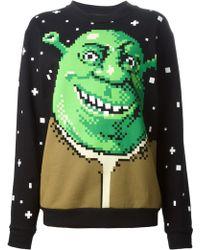 Jeremy Scott Digital 'Shrek' Print Sweater - Lyst