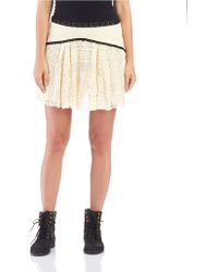 Free People Crocheted Circle Skirt - Lyst