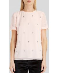 Ted Baker Top - Whitnee Embellished - Lyst