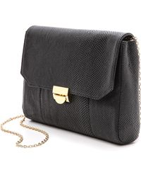 Lauren Merkin Snake Embossed Mini Marlow Bag Black - Lyst