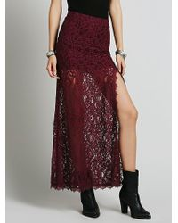 Free People Supreme Lace Skirt - Lyst