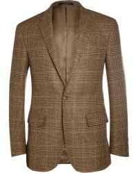 Polo Ralph Lauren Slimfit Check Wool and Alpacablend Blazer - Lyst