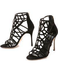Sergio Rossi | Suede Puzzle Sandals - Black | Lyst