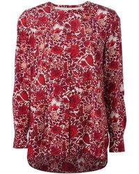 Tory Burch Floral Print Blouse - Lyst