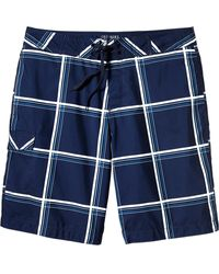 Old Navy Plaid Board Shorts  9 12 - Lyst