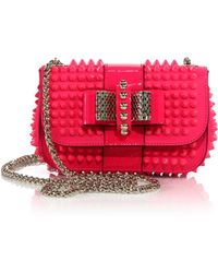 Christian Louboutin Sweety Charity Spike-Studded Crossbody Bag - Lyst
