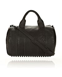 Alexander Wang Rocco In Black Pebble Lamb With Matte Black - Lyst