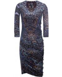 McQ by Alexander McQueen Feather Print Dress - Lyst