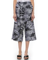 Thakoon Cross Front Cropped Pants - Black/White - Lyst
