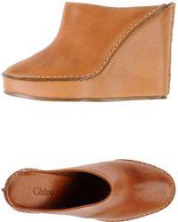 Chloé Open-Toe Mules - Lyst
