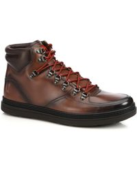 Gucci Greenfield Leather Lace-Up Boots brown - Lyst