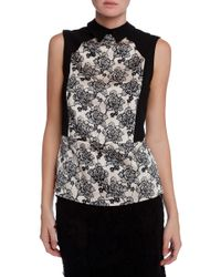 Cooper & Ella Sleeveless Printed Top - Lyst