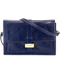 Badgley Mischka Lena Shine Leather Shoulder Bag - Lyst
