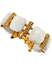Jose & Maria Barrera 24k Gold Plate  Faceted Crystal Bracelet - Lyst