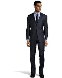 Hickey Freeman Pin Stripe Super 150s Wool 2 Button Milburn Suit with Flat Front Pants - Lyst