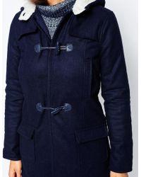 Barneys Originals - Melton Wool Duffel Coat - Lyst