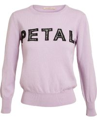 Christopher Kane Petal Cashmere and Lace Sweater - Lyst