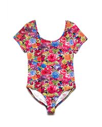Forever 21 Striking Floral Bodysuit - Lyst