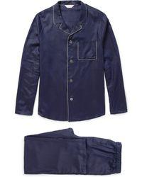 Derek Rose Lombard Jacquard Cotton Pyjama Set - Lyst