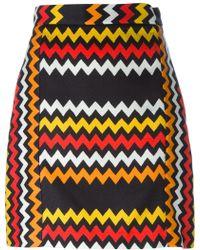 MSGM | Zig Zag Print Skirt | Lyst