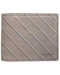 Tommy Hilfiger Schoolboy Striped Double Billfold Wallet - Lyst