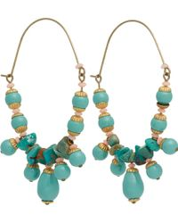 Isabel Marant Jade Beaded Hoop Earrings - Lyst