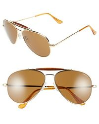 Randolph Engineering - 'sportsman' 61mm Aviator Sunglasses - Lyst