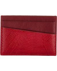 Vianel - Lizard V3 Card Case-Red - Lyst