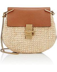 chloe tan leather handbag - chloe women's drew mini-crossbody, chloe black and white bag