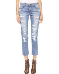 Current/Elliott The Rigid Fling Jeans  Vintage Tattered - Lyst