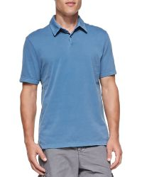 James Perse Shortsleeve Jersey Polo - Lyst