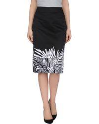 Max Mara Studio Knee Length Skirt black - Lyst