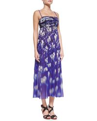 Jean Paul Gaultier Floral-Print Strapless Dress - Lyst