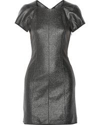 Theyskens' Theory Dazai Coated Tweed Mini Dress - Lyst